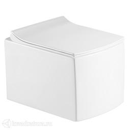 Унитаз подвесной Calypso CS48EP, сиденье Slim дюропласт, микролифт, 485*350*335, белый