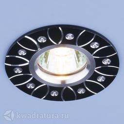 Встраиваемый точечный светильник Elektrostandard 2007 MR16 BK черный