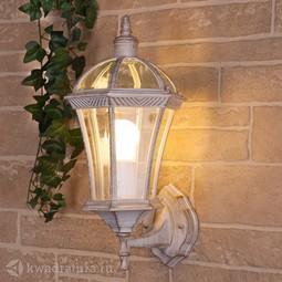 Настенный уличный светильник (Бра) Elektrostandard Capella белое золото