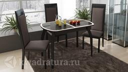 Обеденный стол раздвижной на деревянных ножках Ницца Т15 вариант 3 ТР