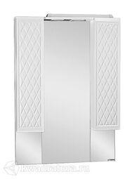 Зеркало-шкаф Домино 3D 75 с подсветкой D37010HZ