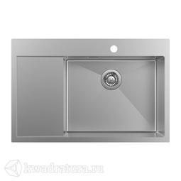 Кухонная мойка IDDIS Haze нержавеющая сталь, сатин, 78*51 см., HAZ78SRi77