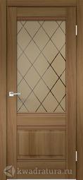 Межкомнатная дверь Velldoris (Веллдорис) ALTO 2V Орех золотой Ромб бронза