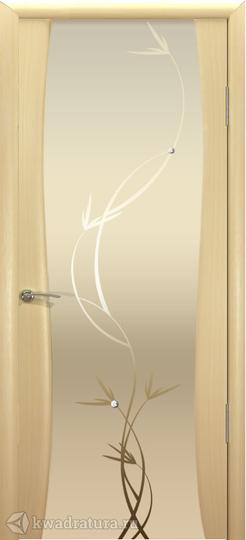 Межкомнатная дверь Океан Буревестник-2 с/о белое Растение Беленый Дуб в Кемерово