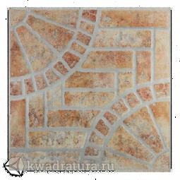 Керамогранит Евро-Керамика Кастельон красно-коричневый 1KS0013 33*33 см