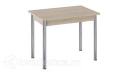 Стол Родос Тип 1 с опорой d50 (Хром/Дуб Сонома) ТР