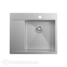 Кухонная мойка IDDIS Haze нержавеющая сталь, сатин, 59*51 см., HAZ59SRi77