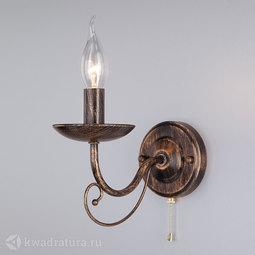 Настенный светильник (Бра) Eurosvet Provence 22404/1 чёрный с золотом