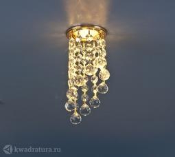 Встраиваемый точечный светильник Elektrostandard 205C C золото/прозрачный