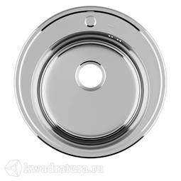 Кухонная мойка IDDIS Basic нержавеющая сталь, полированная, 51 см., BAS51P0i77