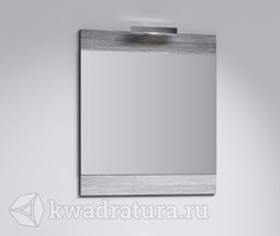 Зеркало со светильником Aqwella Бриг Л6 дуб седой