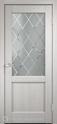 Межкомнатная дверь Velldoris (Веллдорис) Classico 3 2V дуб белый поперечный