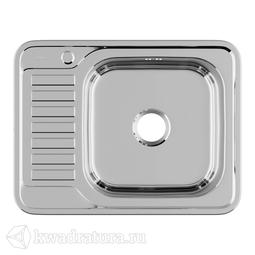 Кухонная мойка IDDIS Basic нержавеющая сталь, полированная, 65 см., BAS65PRi77