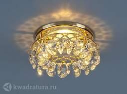 Встраиваемый точечный светильник Elektrostandard 7070 золото/прозрачный