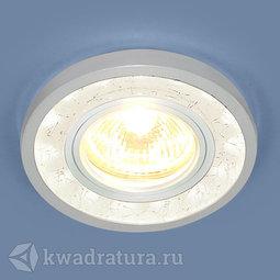 Встраиваемый точечный светильник Elektrostandard 7020 WH/SL белый/серебро LED