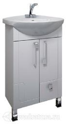Тумба Triton Диана 60 белая с умывальником напольная (2 дверки,1 ящик)