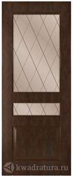 Межкомнатная дверь Румакс Ника со стеклом Каштан
