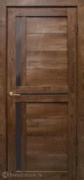 Дверь межкомнатная Дубрава Foret Light Медиана дуб шоколадный СТ черное