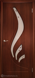 Дверь межкомнатная Дубрава Лилия ПО итальянский орех