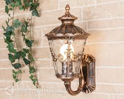 Настенный уличный светильник (Бра) Elektrostandard Diadema U черное золото