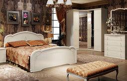 Двуспальная кровать «Лорена» (Штрихлак) без матраса ТР
