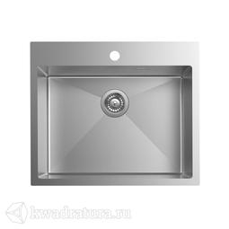 Кухонная мойка IDDIS Haze нержавеющая сталь, сатин, 59*51 см., HAZ59S0i77