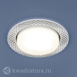 Встраиваемый точечный светильник Elektrostandard 1071 GX53 WH белый