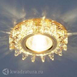 Встраиваемый точечный светильник Elektrostandard 6037 зеркальный/золото LED