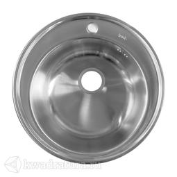 Кухонная мойка IDDIS Basic нержавеющая сталь, сатин, 51 см., BAS51S0i77