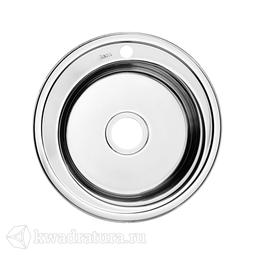 Кухонная мойка IDDIS Suno нержавеющая сталь, шёлк, 50,5 см., SUN50S0i77