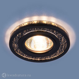 Встраиваемый точечный светильник Elektrostandard 7020 BK/SL черный/серебро LED