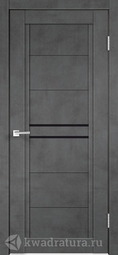 Межкомнатная дверь Velldoris (Веллдорис) NEXT 2 муар темно-серый, лакобель черное