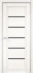 Межкомнатная дверь Velldoris (Веллдорис) NEXT 1 эмалит белый, лакобель черное