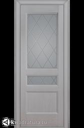 """Межкомнатная дверь Луидор Джесика Лайт ясень айсберг  с/о белое гравировка """"Готика"""""""