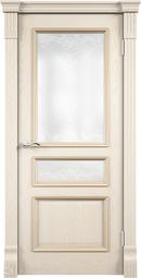 """Межкомнатная дверь Луидор Граф ясень жемчуг с/о белое """"Витраж"""""""