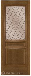 Межкомнатная дверь Румакс Кантри со стеклом Ольха