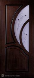 Межкомнатная дверь Румакс Карелия-2 ПГ Морёный дуб со стеклом