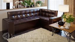 Скамья угловая со спальным местом Остин Венге цаво, кожзам коричневый ТР