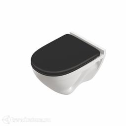Унитаз подвесной Sanita Luxe ATTICA LUXE COLOR BLACK сиденье дюропласт, микролифт SL700005