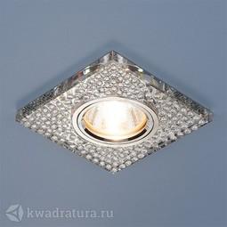 Встраиваемый точечный светильник Elektrostandard 2150 зеркальный/серебро