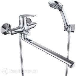 Смеситель для ванны c длинным изливом с керамическим дивертором Iddis Male MALSBL2i10WA БЕЗ ДУШЕВЫХ АКСЕССУАРОВ