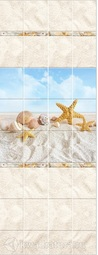 Стеновая панель ПВХ КронаПласт UNIQUE Песчаный пляж