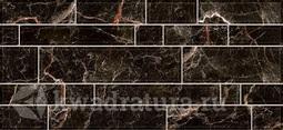 Настенная плитка InterCerama PLAZA черная 50*23 см