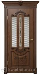 Межкомнатная дверь ДвериХолл Олимпия Экошпон Дуб Янтарный, со стеклом