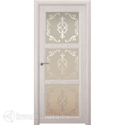 Межкомнатная дверь Океан Optima 3 Белый жемчуг с/о Ажур