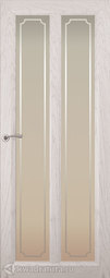 Межкомнатная дверь Океан Optima 5 Дуб белый жемчуг с/о Рамка