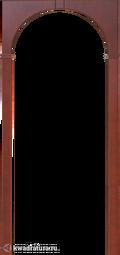 """Межкомнатная арка Артек """"Палермо"""" итальянский орех, наличники 70/90мм"""