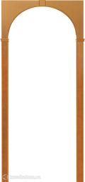 "Межкомнатная арка Артек ""Палермо"" миланский орех, наличники 70/90мм"