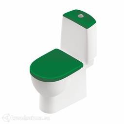 Унитаз-компакт Sanita Luxe BEST LUXE COLOR GREEN сиденье дюропласт, микролифт SL900308