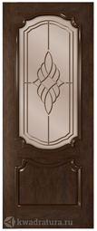 Межкомнатная дверь Румакс Премьера со стеклом Каштан